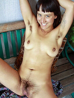 Bohemian pictures of unshaved bush