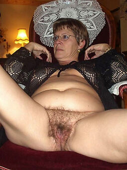 glum old hairy pussy stripping