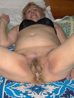hairy german granny stripping