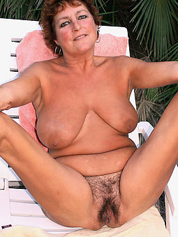 very hairy old women